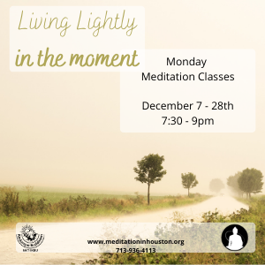 Living Lightly and in the Moment