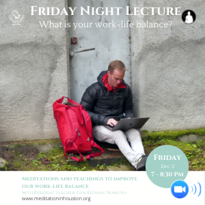 Friday Night Lecture: Gaining a work-life balance