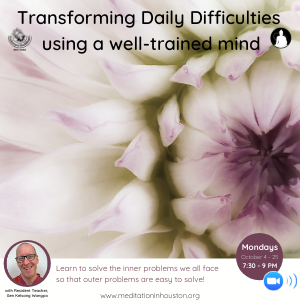 Transforming Daily Difficulties Using a Well-Trained Mind